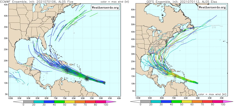 hurricane-season-2021-tropical-storm-elsa-caribbean-ecmwf-gfs-model