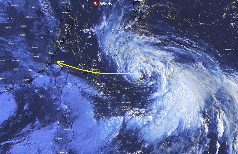 pacific-typhoon-season-2021-in-fa-taiwan-satellite