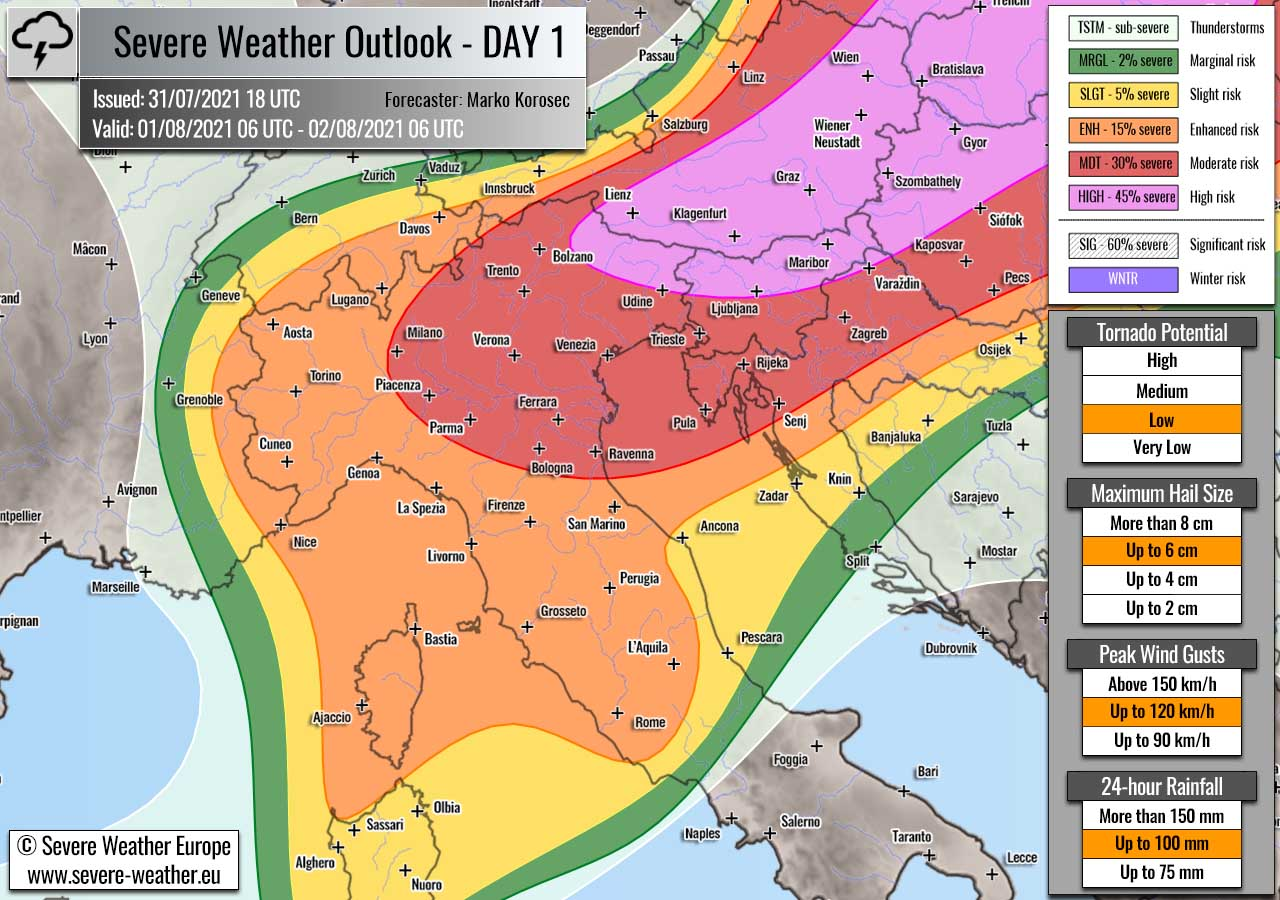 severe-weather-forecast-august-1st-2021-italy-switzerland-croatia-slovenia-austria