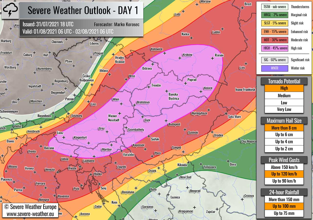 severe-weather-forecast-august-1st-2021-slovenia-austria-slovakia-czech-republic-poland-hungary