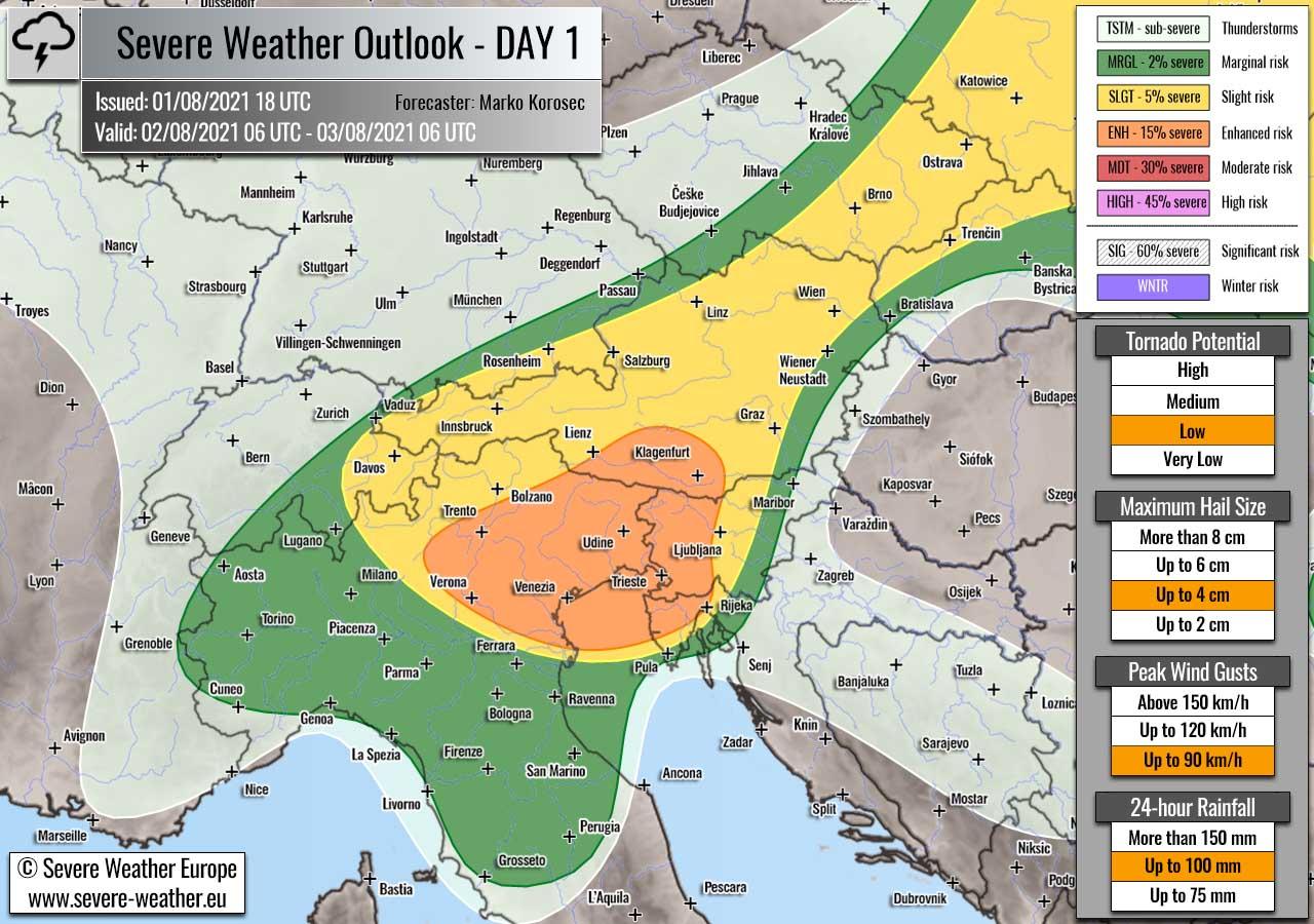 severe-weather-forecast-august-2nd-2021-slovenia-croatia-austria-italy