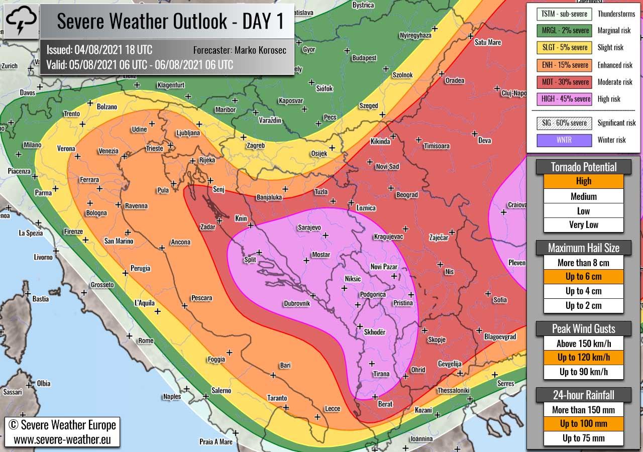 severe-weather-forecast-august-5th-2021-slovenia-italy-croatia-bosnia-serbia-albania