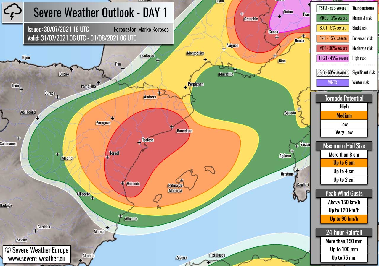 severe-weather-forecast-july-31st-2021-spain-mediterranean