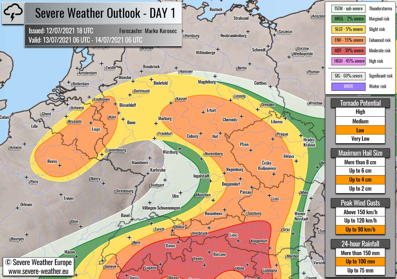 severe-weather-outlook-july-13th-2021-germany-czech-republic-benelux