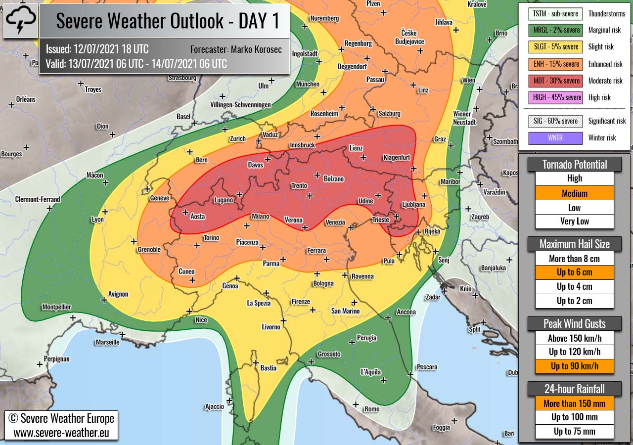 severe-weather-outlook-july-13th-2021-italy-alps-slovenia