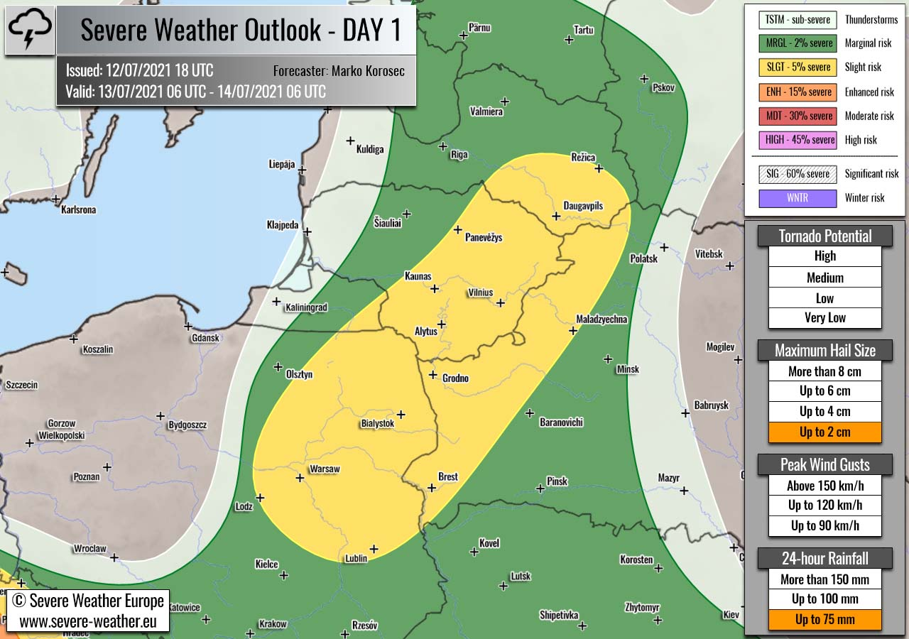 severe-weather-outlook-july-13th-2021-poland-belarus-lithuania