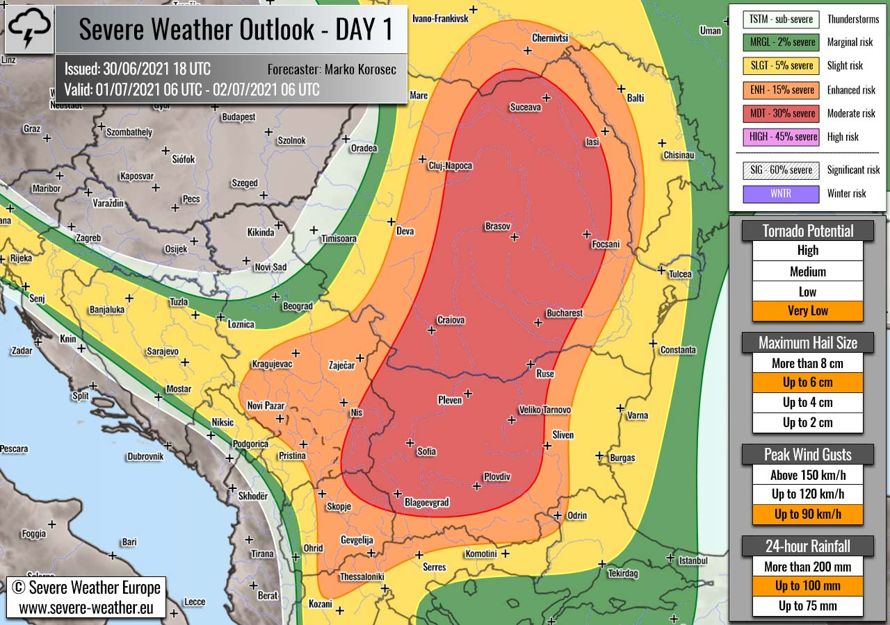 severe-weather-outlook-july-1st-2021-bulgaria-romania