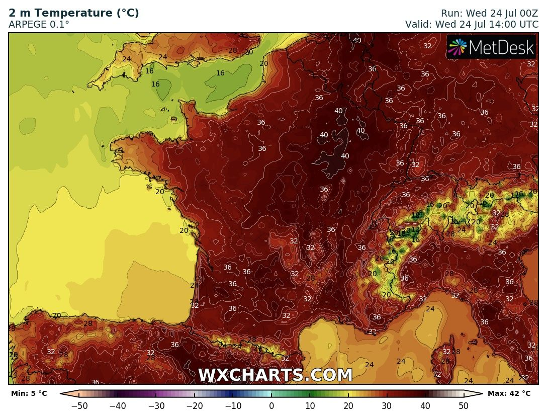 Map Of France Over Time.Update Going Over 40 C In France Again Benelux Expected To Break