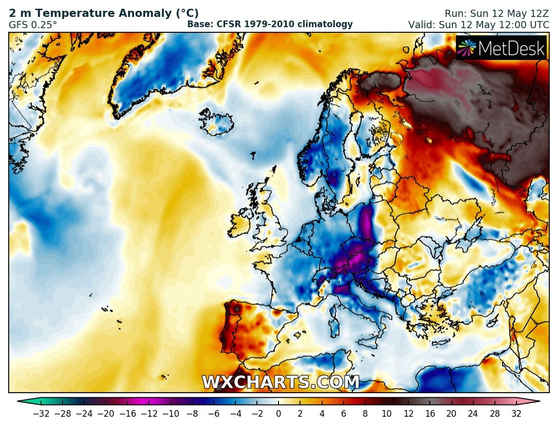 Extremely hot weather in NW Russia today: 31 °C near the ...