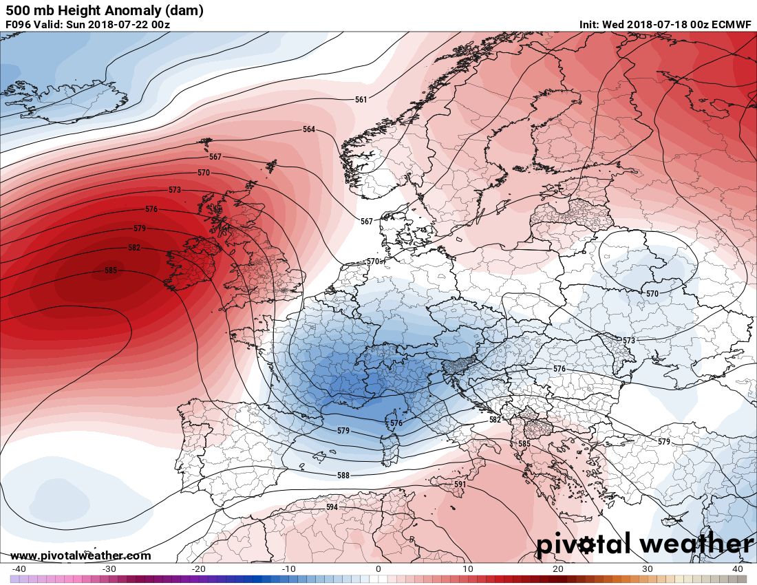 Europe's pattern overview for the next 7 days (July 18-25