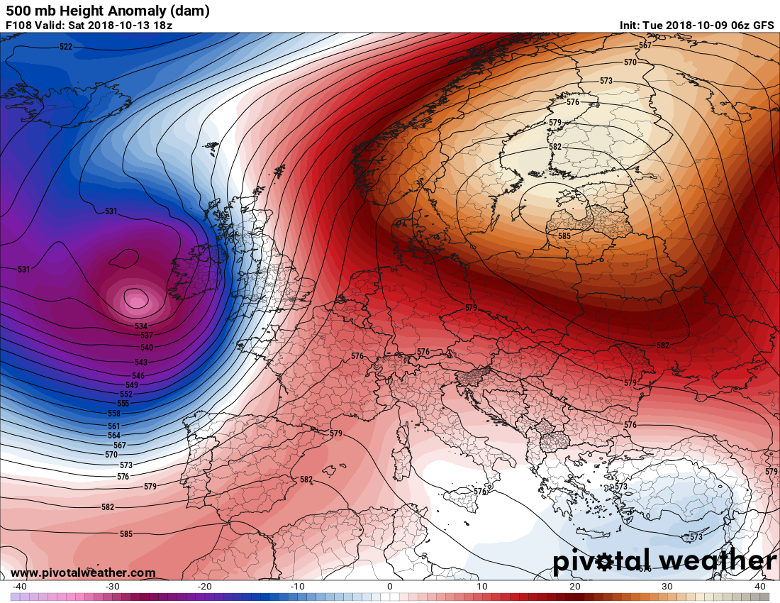 Very warm weather / heat wave for northern Europe and the ...