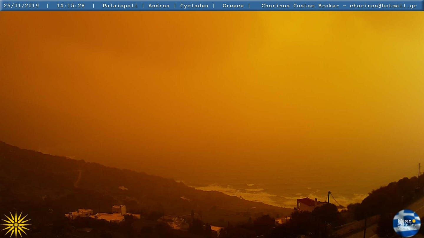 More Saharan dust for Greece, Turkey and Cyprus today