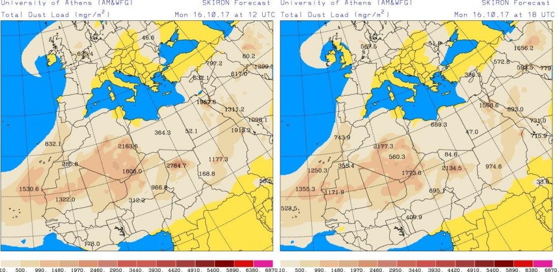 16102017_SKIRON_Dust_forecast_1