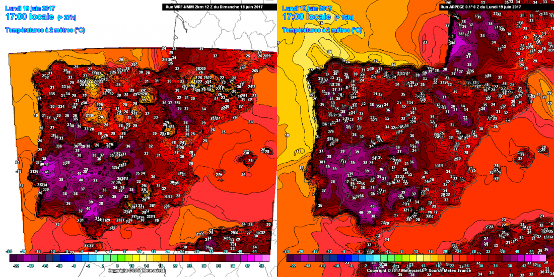 19062017_Spain_temps_fcst_full_WRF_ARPEGE
