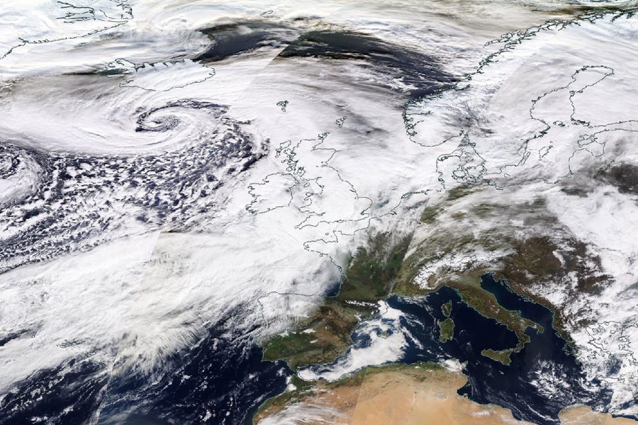 SPACE BRITAIN NORTHERN EUROPE WEATHER