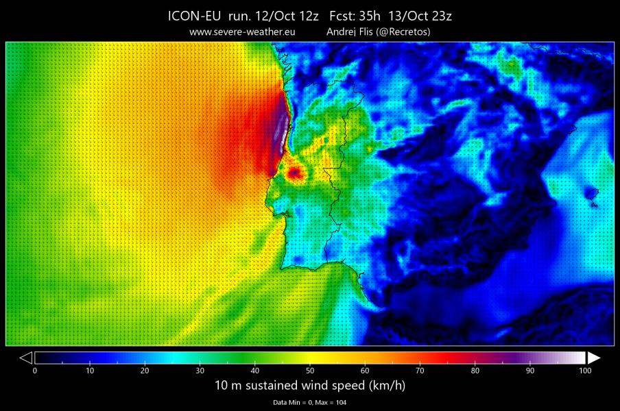 Wind_speed_gust_height_above_gro in ICON_EU_sijngšnle_level_elecm_VM