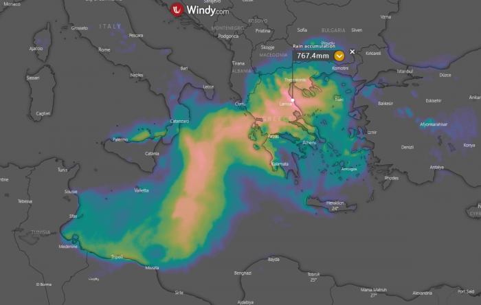 medicane-cassilda-total-rainfall-greece