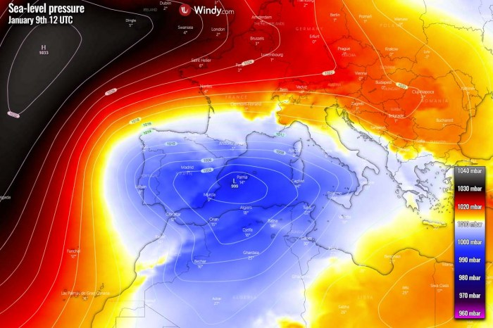 winter-storm-snow-europe-spain-pressure-saturday-afternoon
