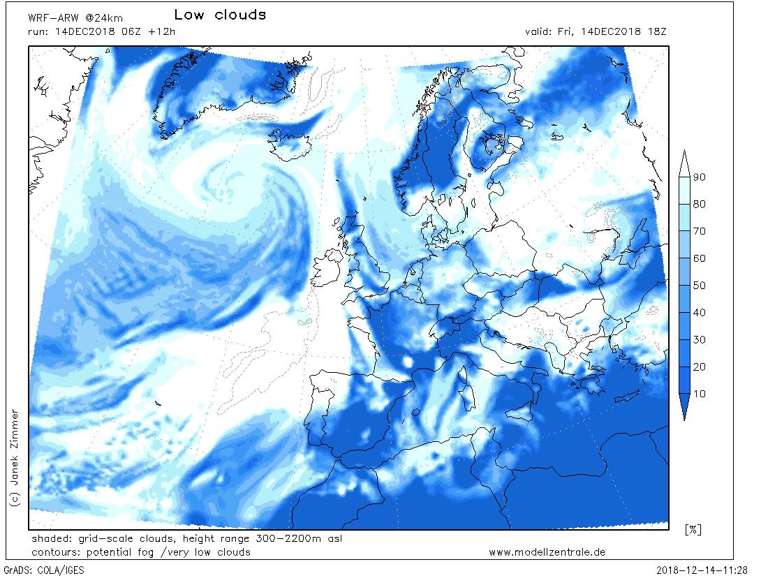 Geminid peak night (December 14/15) weather outlook for