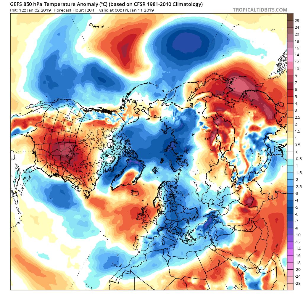 UPDATE* on the splitting Polar Vortex and winter trends