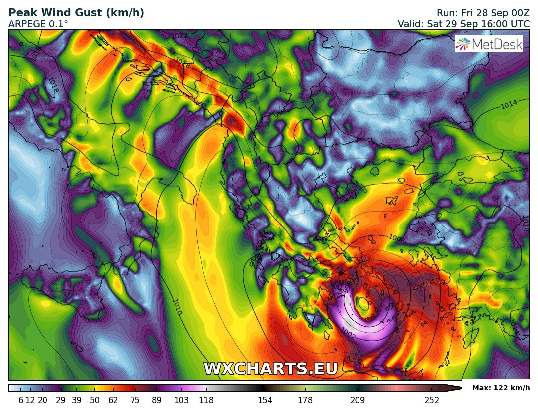 High risk for major waves and dangerous severe winds across the