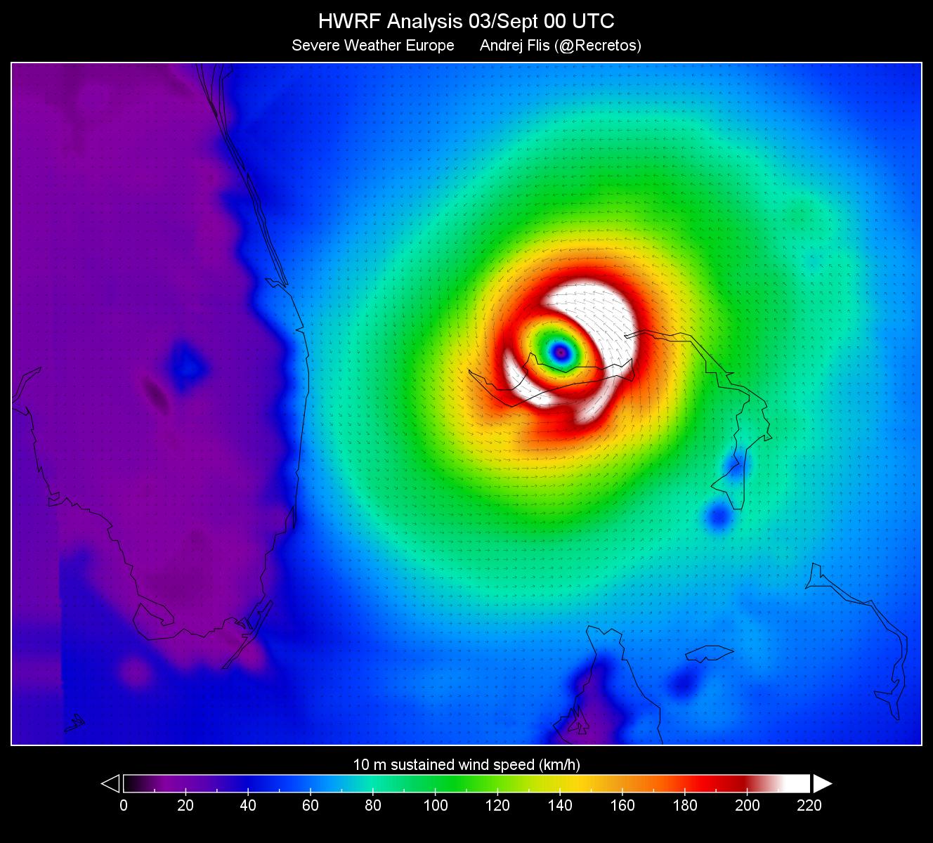 UPDATE: Hurricane Dorian remains stationary, still pounding