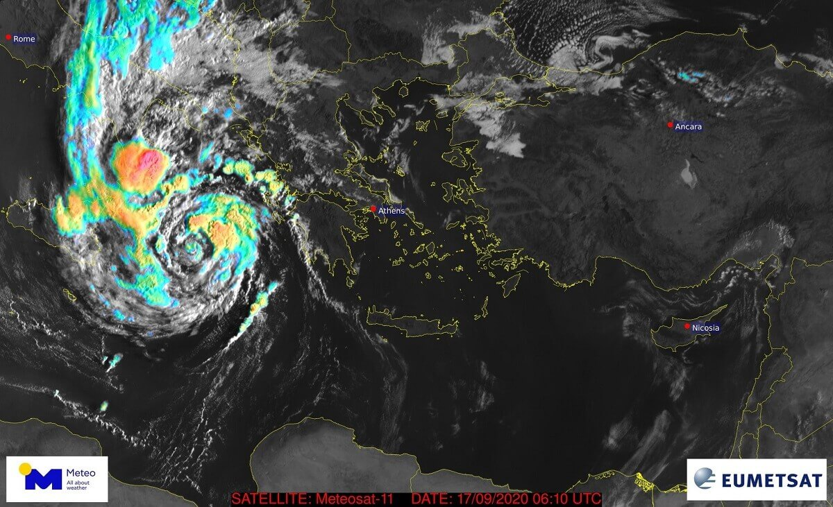 Extremely Dangerous Medicane Ianos Will Strike Into Greece On Friday