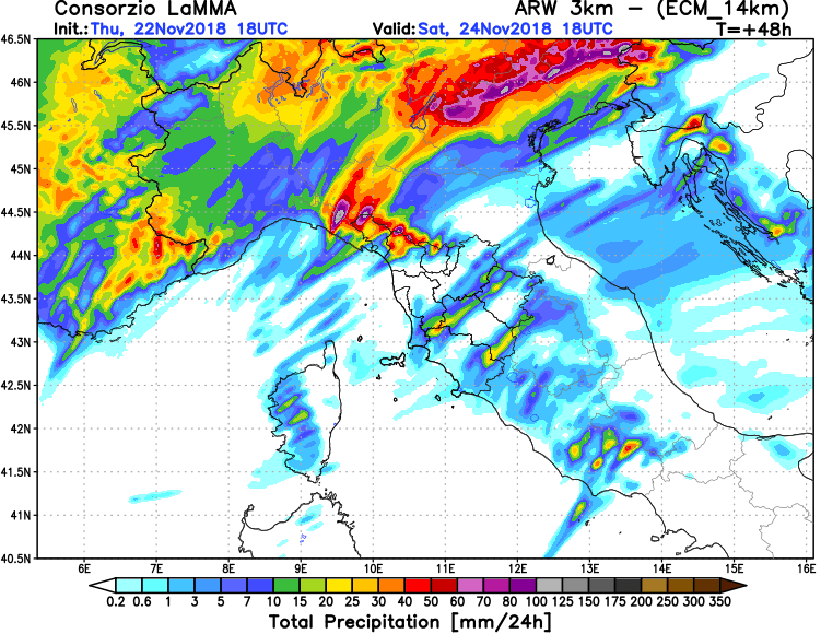 on saturday night the frontal zone pushes into the nw balkan peninsula and the excessive rainfall threat spreads into nw croatia kvarner gorski kotar