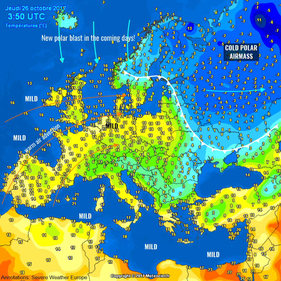 Weather Map Of Europe  |Weather Forecast Map Europe