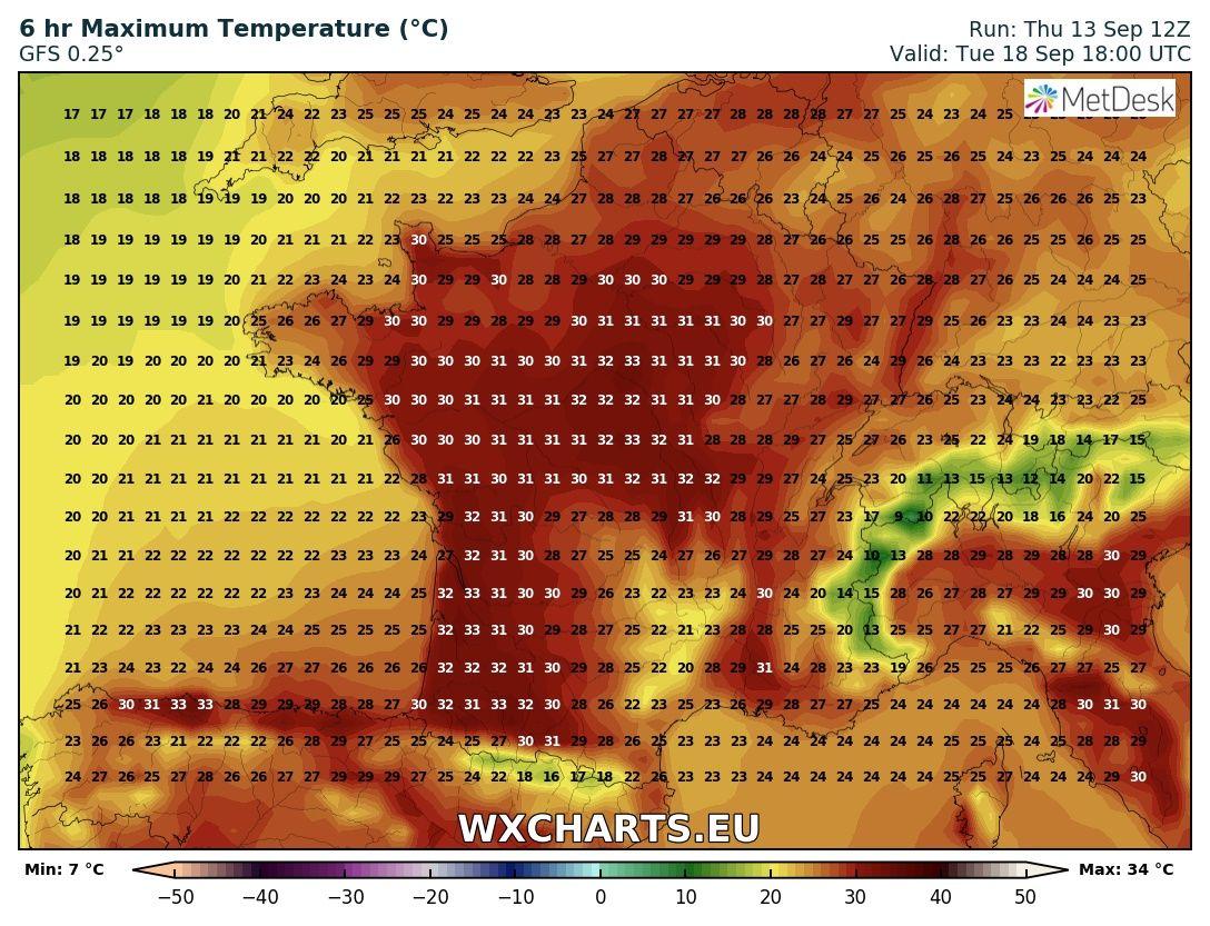 Europe heat wave 2020