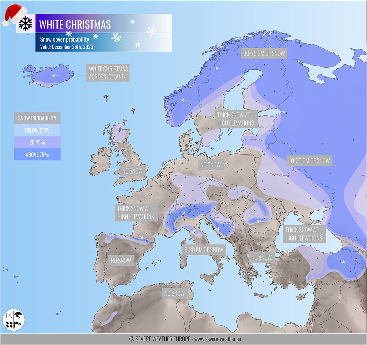 weather europe map forecast 10 days Are you dreaming of a White Christmas? Here is the forecast snow