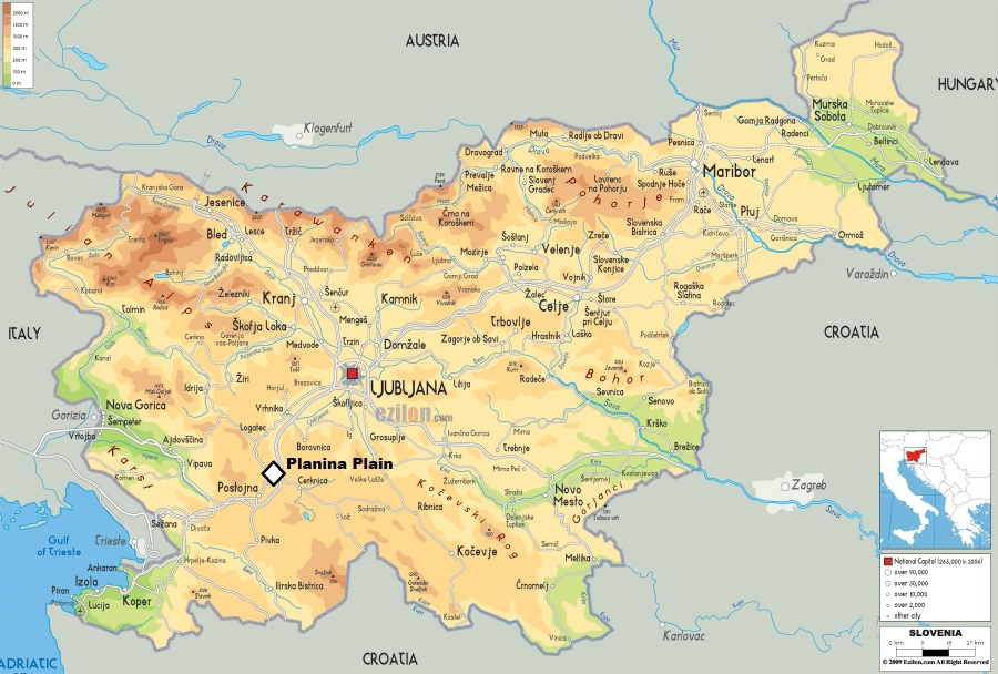 Slovenian-physical-map