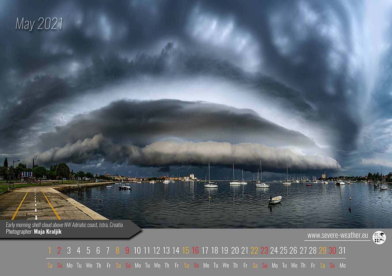 weather calendar 2021 by severe weather europe