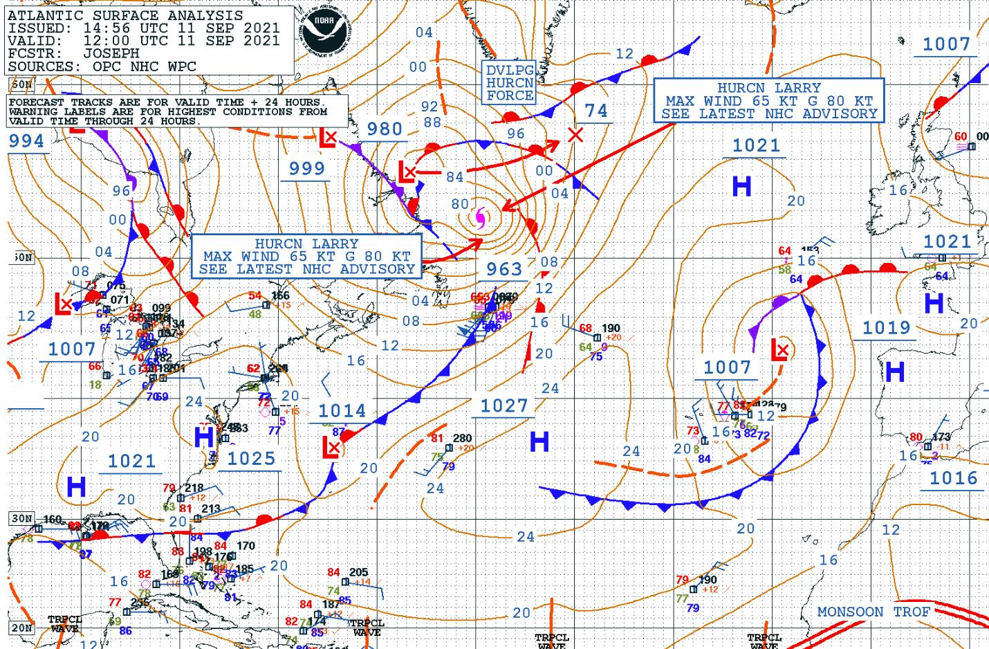 atlantic-hurricane-season-2021-larry-winter-storm-forecast-snow-greenland-analysis