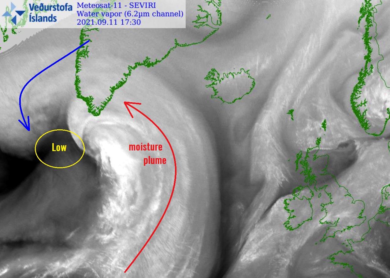 atlantic-hurricane-season-2021-larry-winter-storm-forecast-snow-greenland-moisture-plume