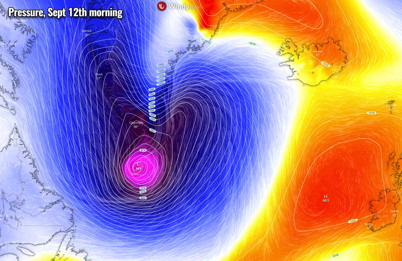 atlantic-hurricane-season-2021-larry-winter-storm-forecast-snow-greenland-pressure