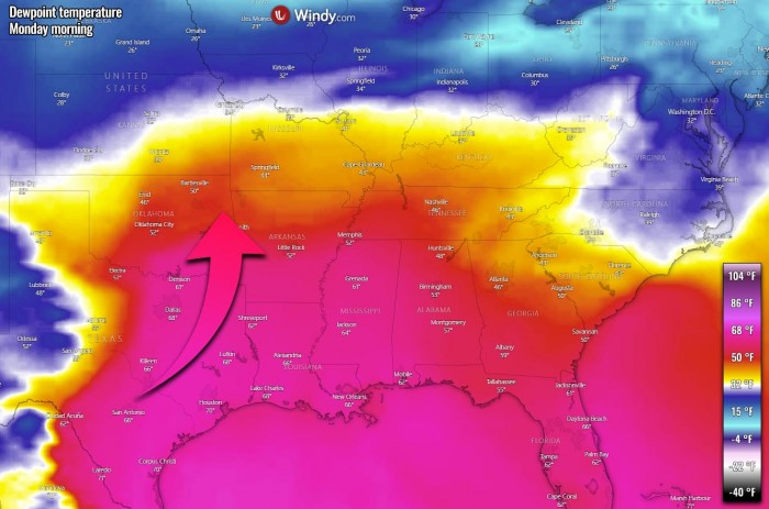 winter-storm-forecast-snow-midwest-united-states-dewpoint-temperature-monday