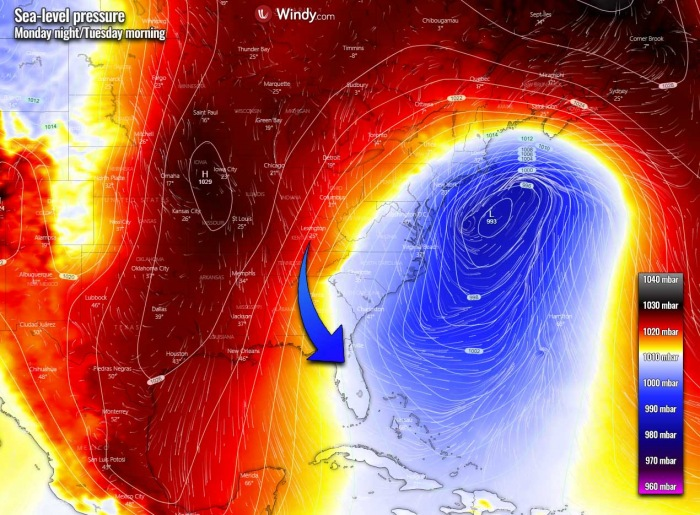 winter-storm-noreaster-snow-weather-forecast-pressure-monday