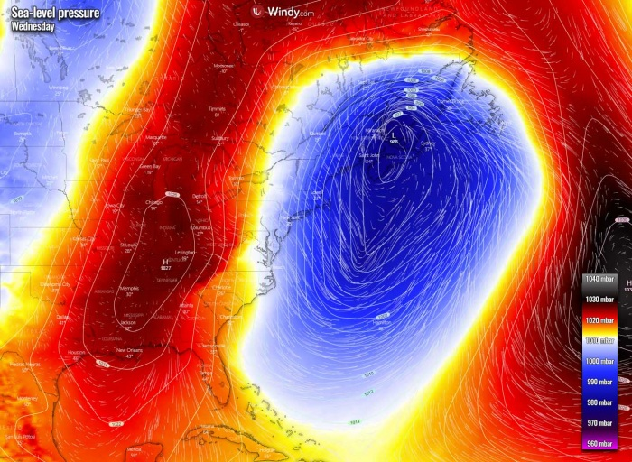 winter-storm-noreaster-snow-weather-forecast-pressure-wednesday