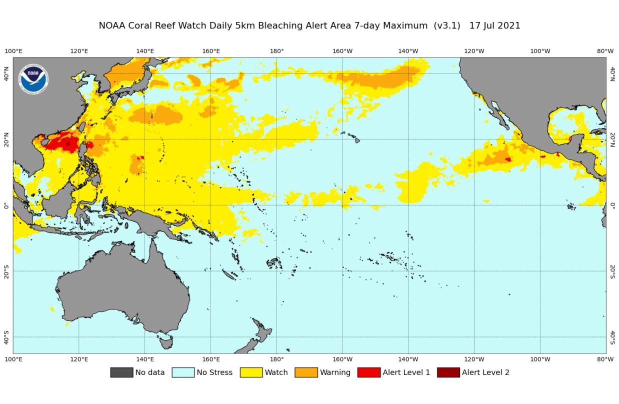 Ocean-heatwave-north-pacific-coral-bleaching-alert-map