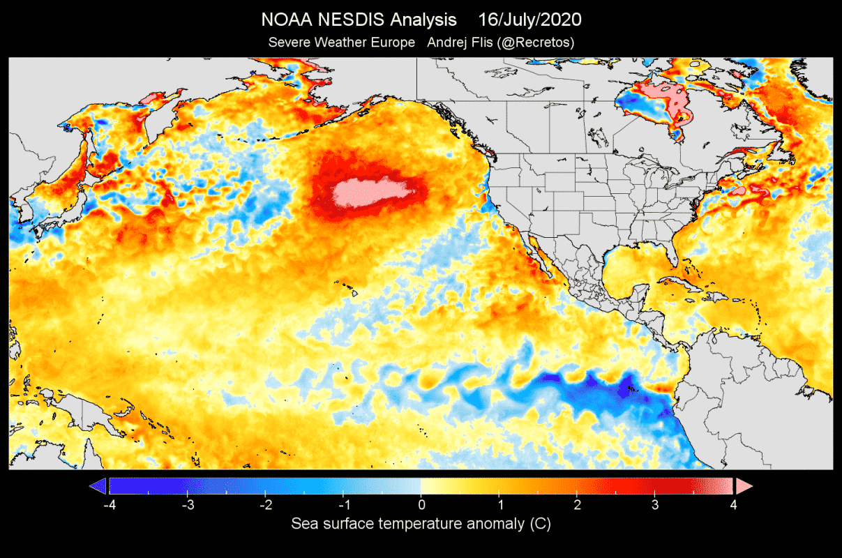 Ocean-heatwave-north-pacific-july-2020-temperature-anomaly