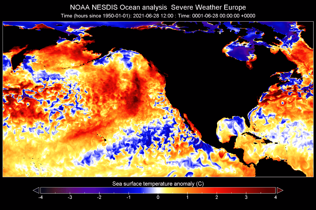 Ocean-heatwave-north-pacific-late-june-temperature-anomaly-map