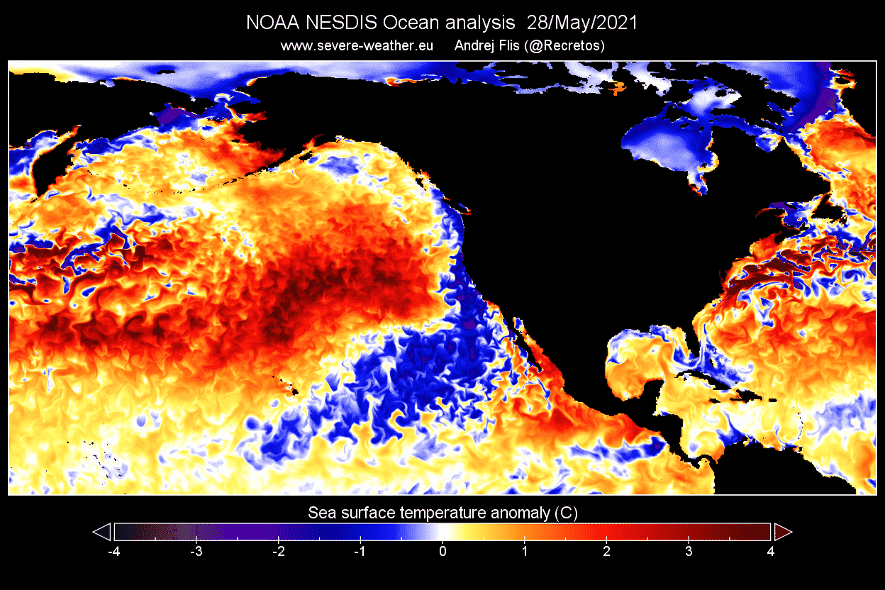 Ocean-heatwave-north-pacific-late-may-2021-temperature-anomaly