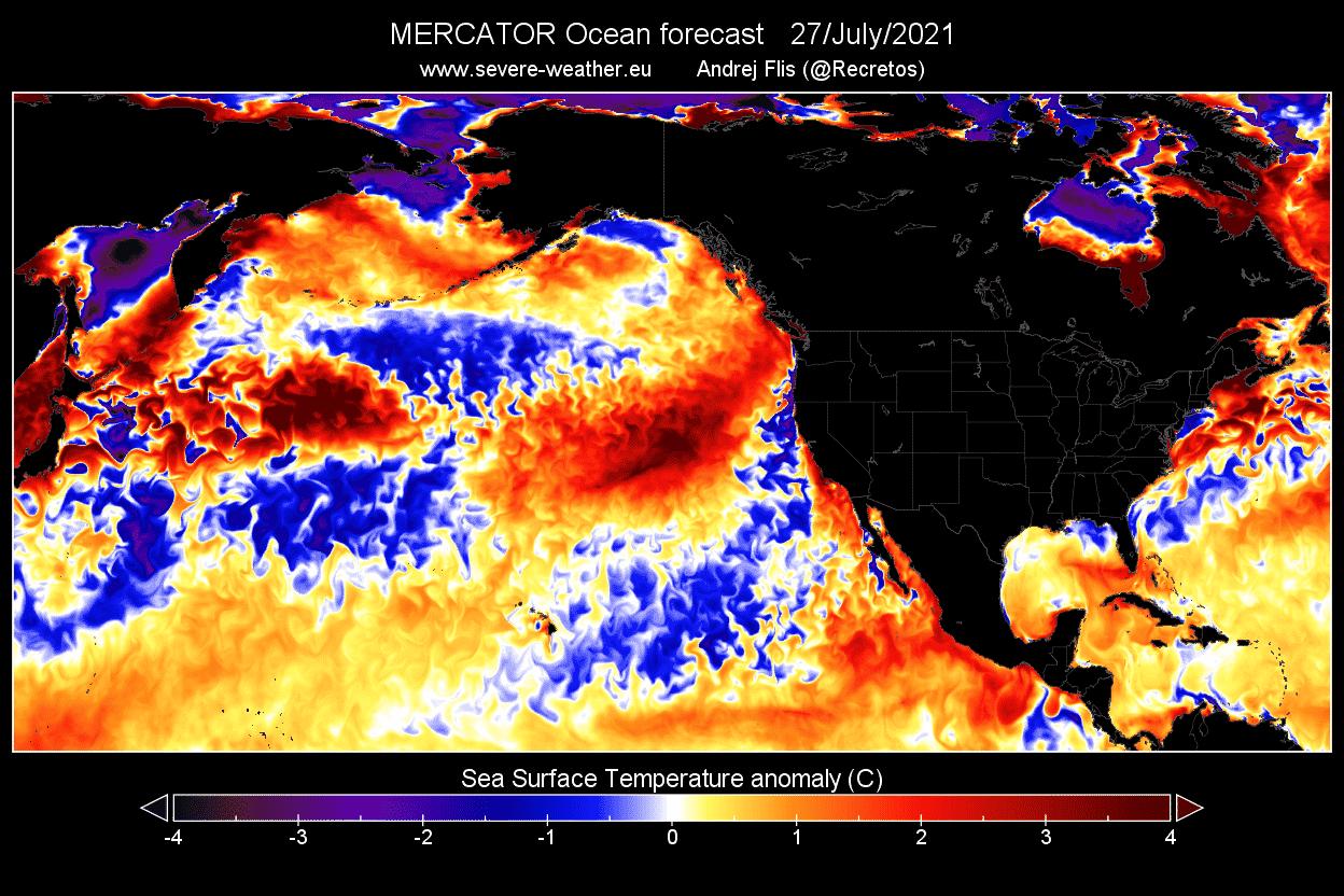 Ocean-heatwave-north-pacific-latest-temperature-anomaly-forecast