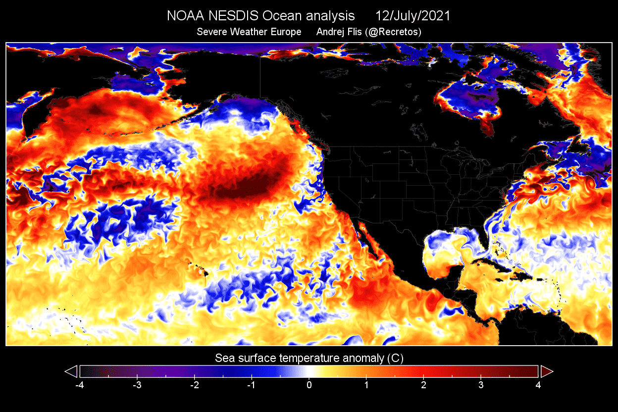Ocean-heatwave-north-pacific-temperature-anomaly-analysis-map-july-week-2