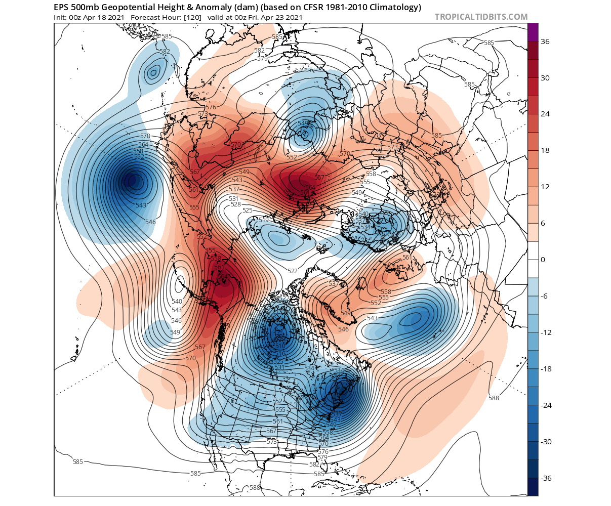 ecmwf-pressure-anomaly-weather-forecast-april-united-states-europe-arctic-day-5