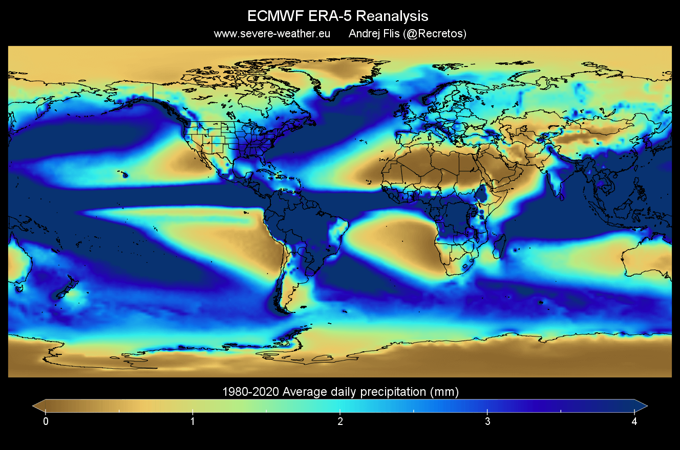 global-average-precipitation-map