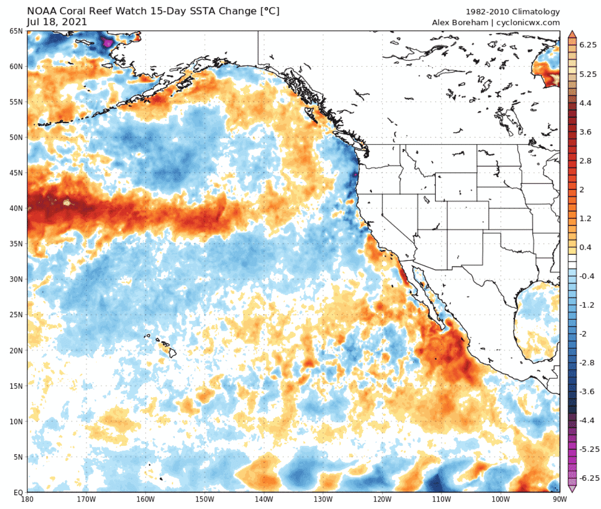 north-pacific-ocean-15-day-temperature-anomaly-change