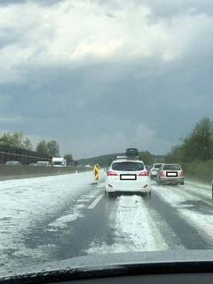 hailstorm accumulation hail hartberg austria