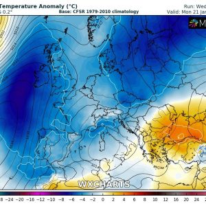 Latest thoughts on the much colder and locally snowy weather across the western half of Europe through the weekend and into next week, Jan 18-24th